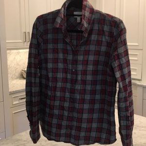 JCrew flannel blouse